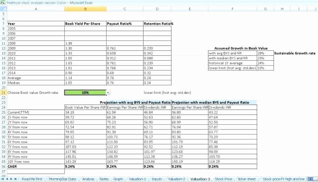 Valuation Template Excel – Fatfreezingub