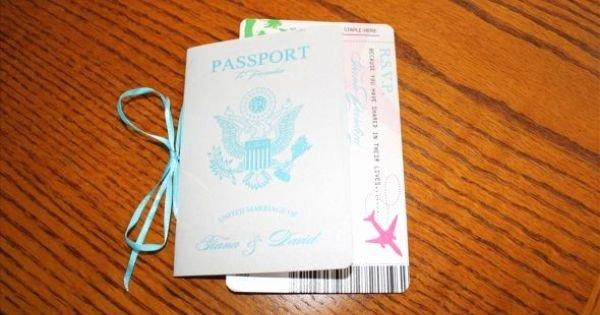 Vanessa S Diy Passport Destination Wedding Invitations