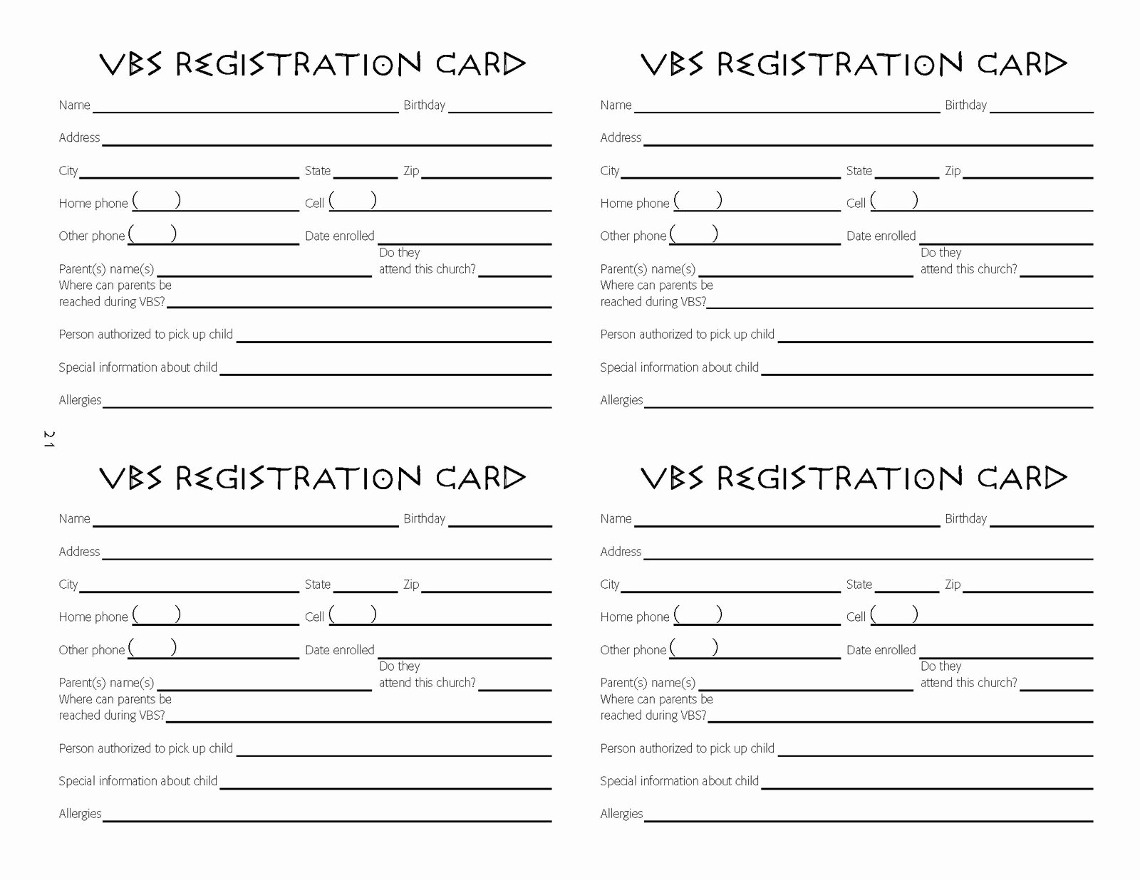 Vbs Tips Vbs Registration Ideas