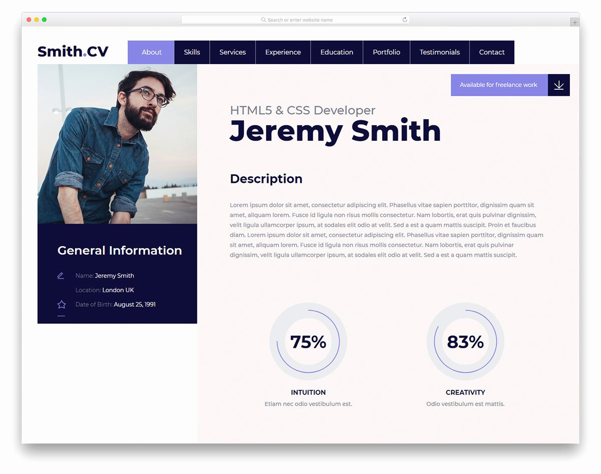 Vcard2 Free Vcard Website Template 2018 Colorlib