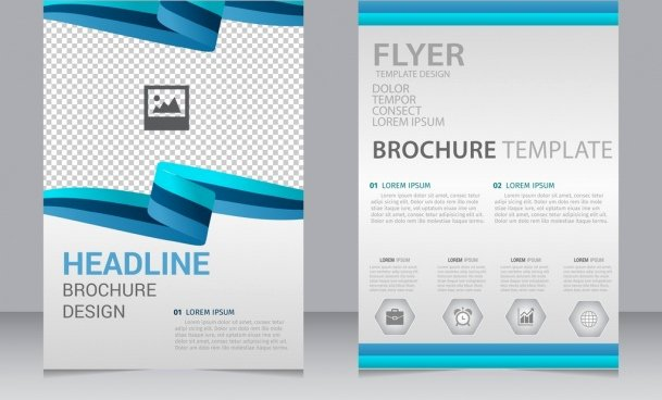 Vector Business Brochure Flyer Template Free Downl with