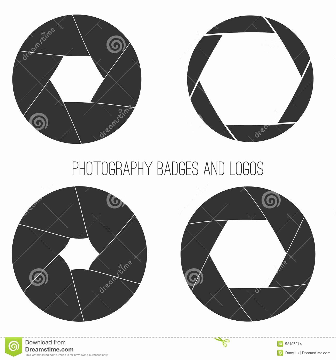Vector Collection Graphy Logo Templates Stock