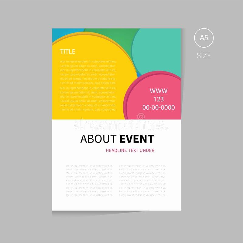 Vector event Brochure Template Design Stock Vector