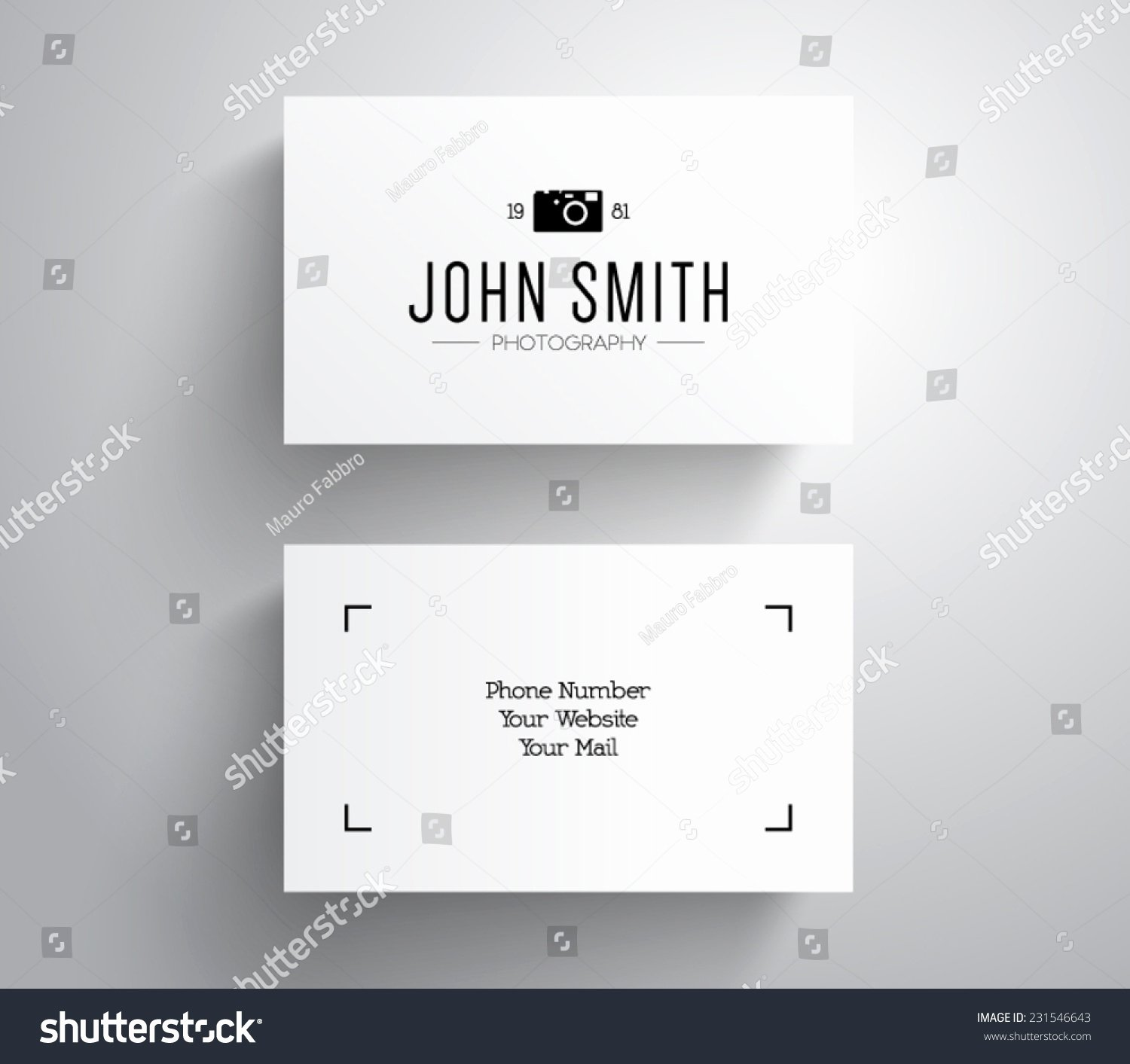 Vector Grapher Graphy Business Card Template