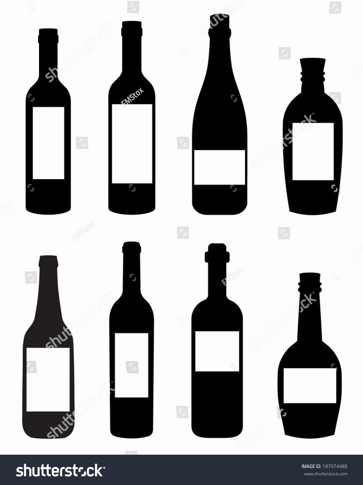 Vector Liquor Wine Bottle Templates Spot Stock Vector