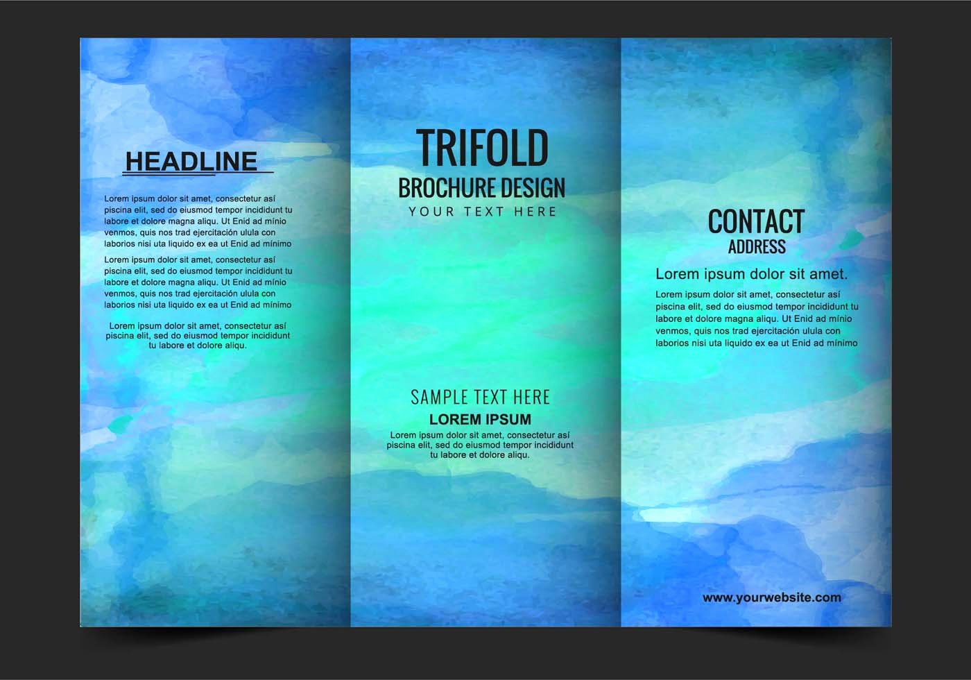 Vector Modern Trifold Brochure Template Download Free