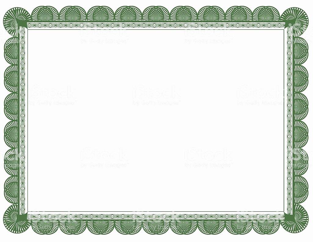 Vector Printable Blank Certificates