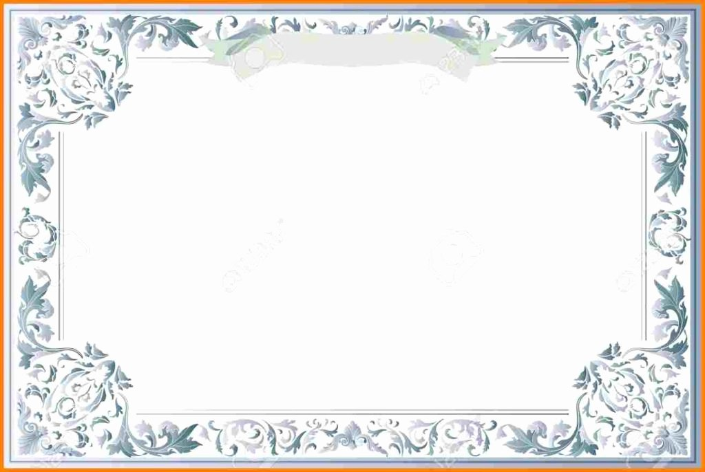Vector Printable Blank Certificates