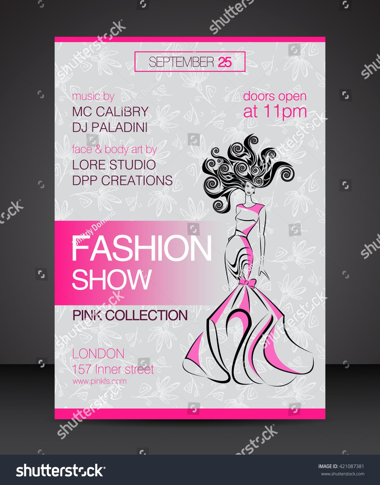 Vector Stylish Banner Party Poster Flyer Stock Vektor