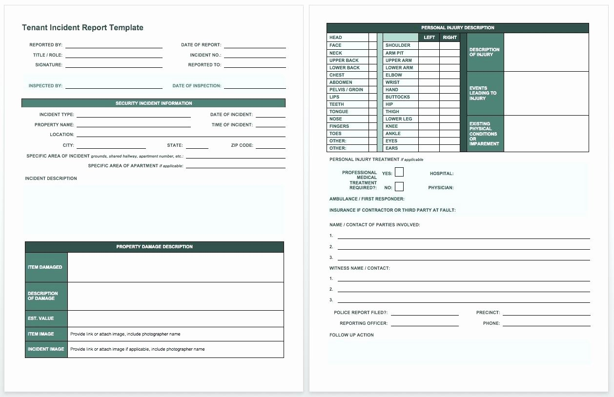 Vehicle Condition Report form Template