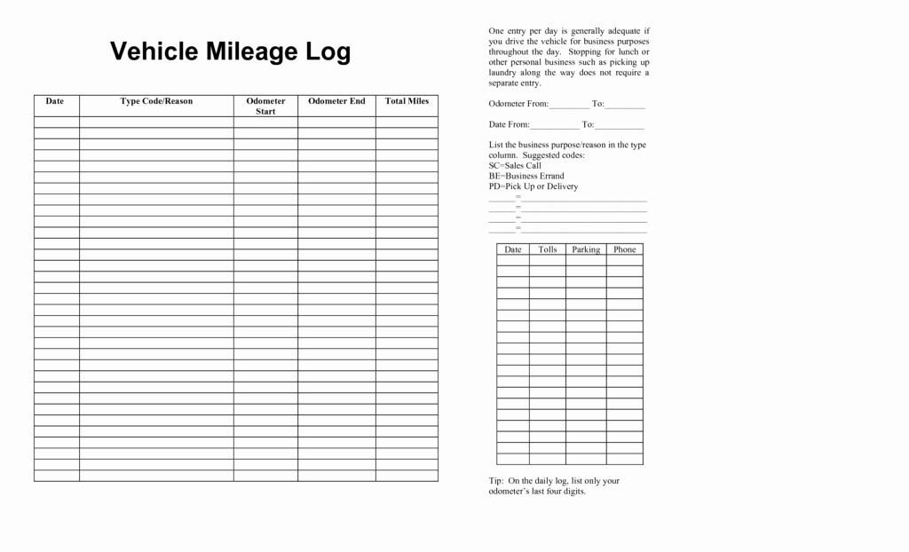 Vehicle Mileage Templates