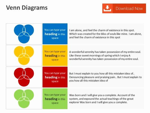Venn Diagram Editable Powerpoint Template