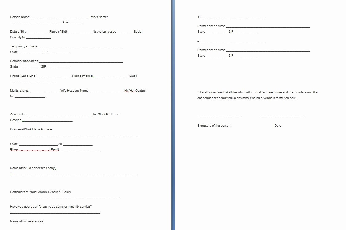 Verification forms Template Free formats Excel Word