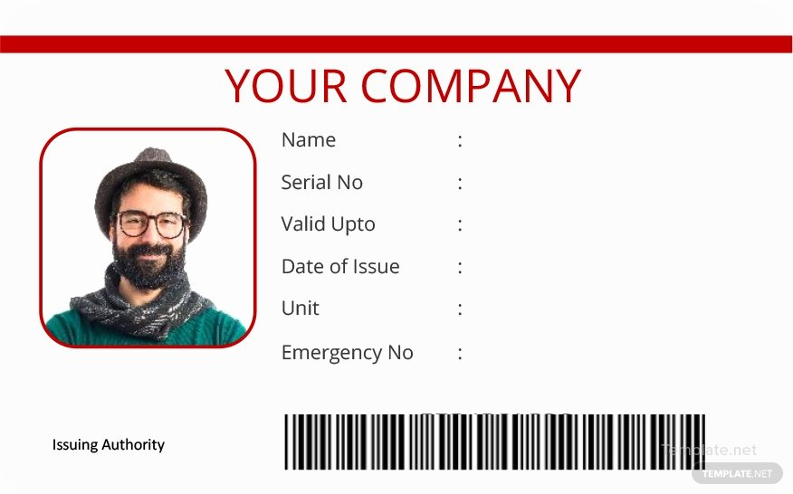 Vertical Blank Id Card Template In Microsoft Word