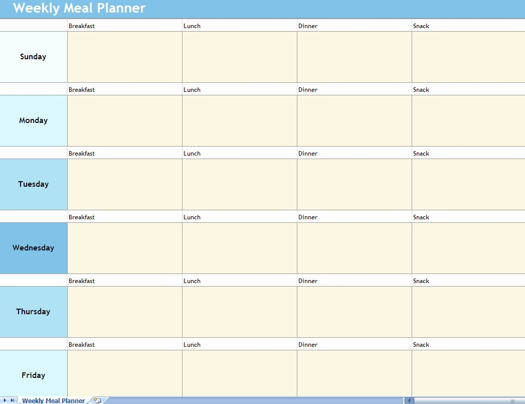 Very Popular Images the Weekly Meal Planner Also