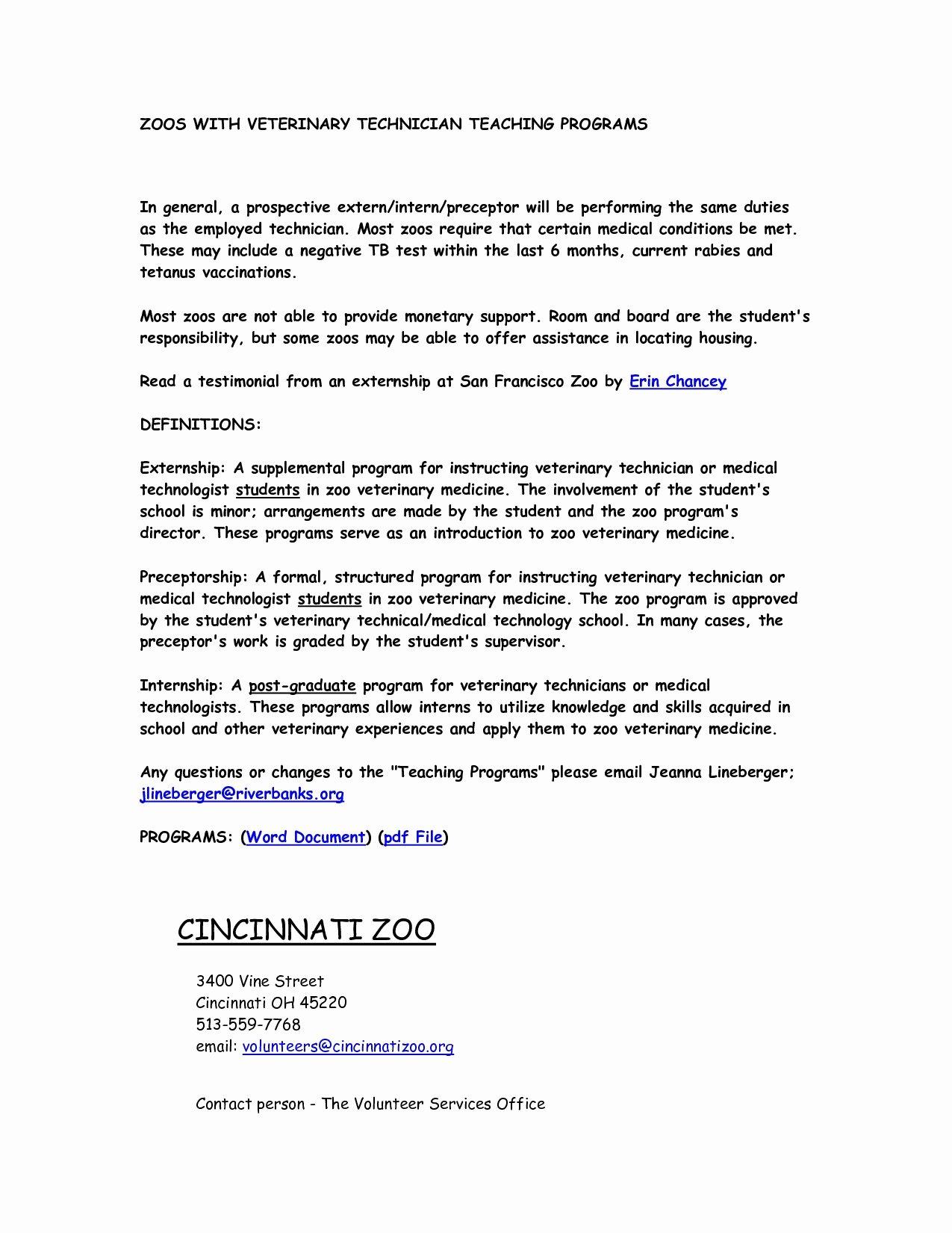Vet assistant Cover Letter Enjoyable Design Ideas Vet Tech