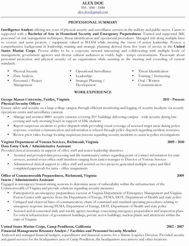 Veteran Resume Builder Best Resume Gallery