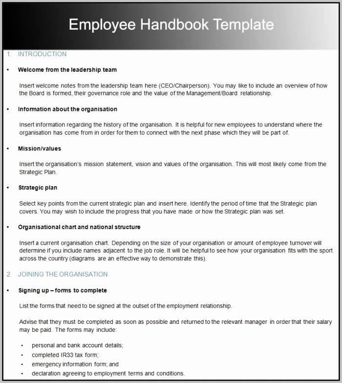 Veterinary Employee Handbook Template Template Resume