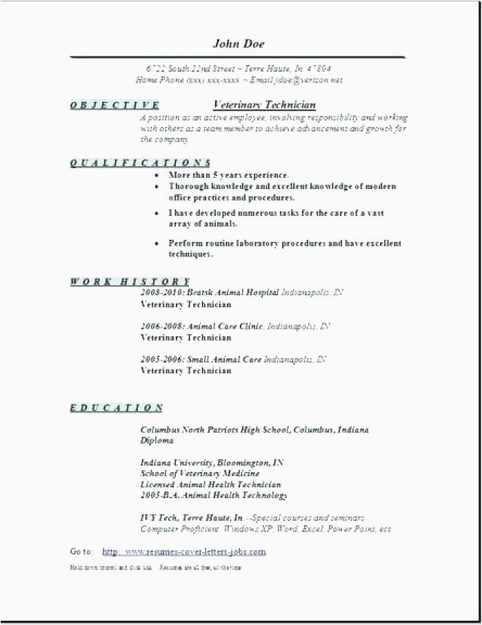 Veterinary Receptionist Cover Letter New Veterinary Resume