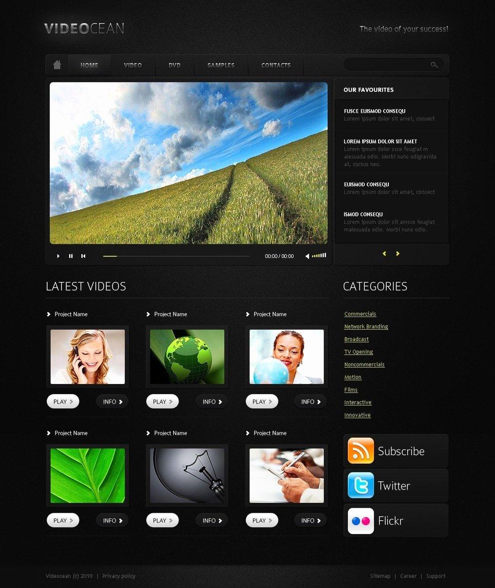 Video Gallery Website Template