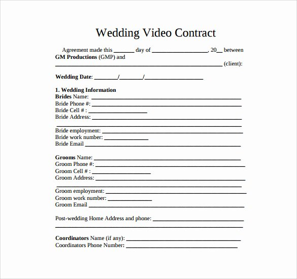 Videography Contract Template 9 Download Free Documents