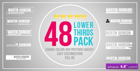 Videohive 48 Lower Thirds Pack after Effects Templates