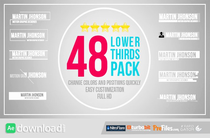 videohive 48 lower thirds pack free