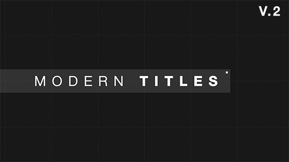 Videohive 9 Modern Glitch Titles after Effects Template
