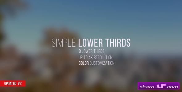 Videohive Lower Thirds after Effects Templates Free