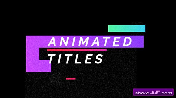 Videohive Titles Free after Effects Templates