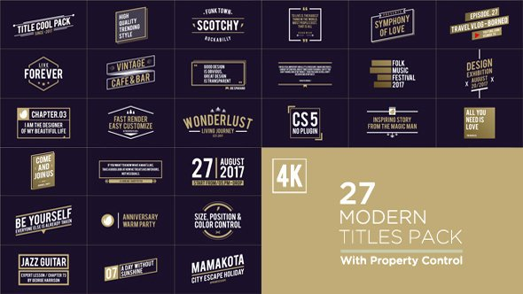 Videohive Titles Pack Free after Effects Template Free