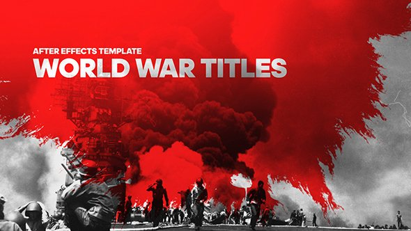 Videohive World War Cinematic Titles Free after Effects