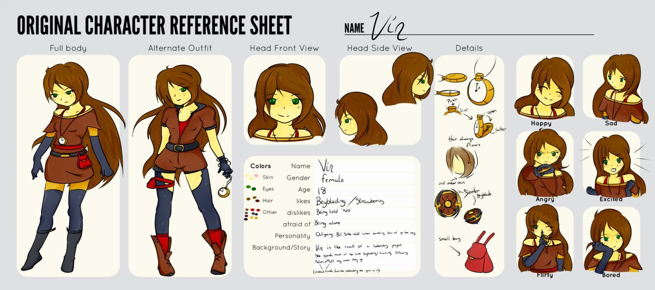 Vin Beyblade Oc Reference Sheet by L Lappy On Deviantart