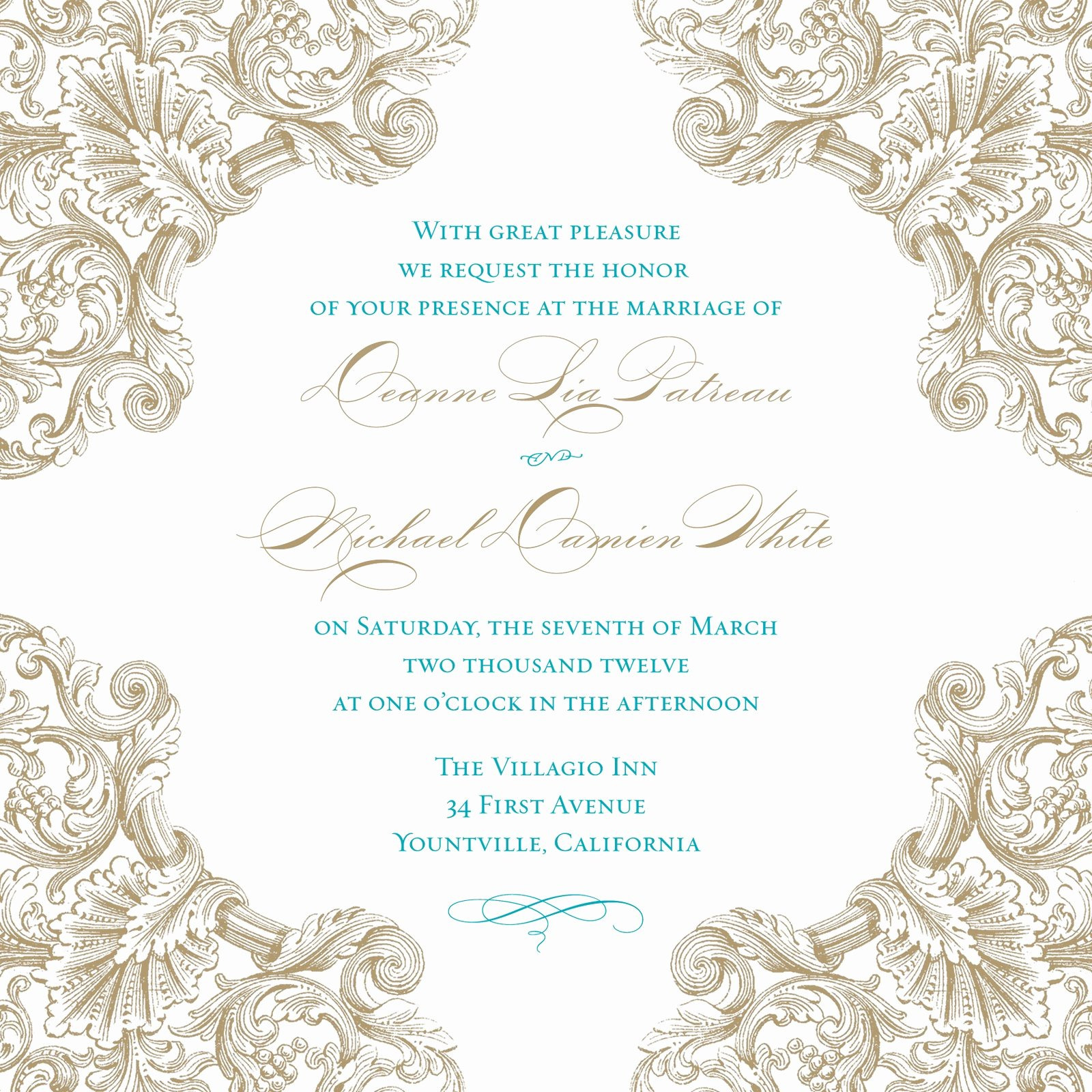 Vintage Bridal Shower Invitations Template