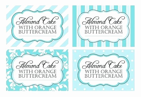 Vintage Food Label Template Candy Buffet Labels