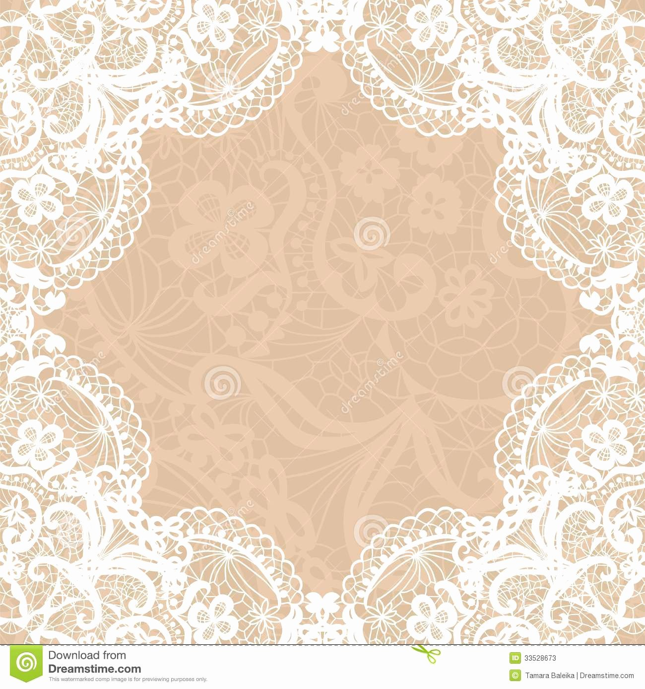 Vintage Lace Wedding Invitations Template