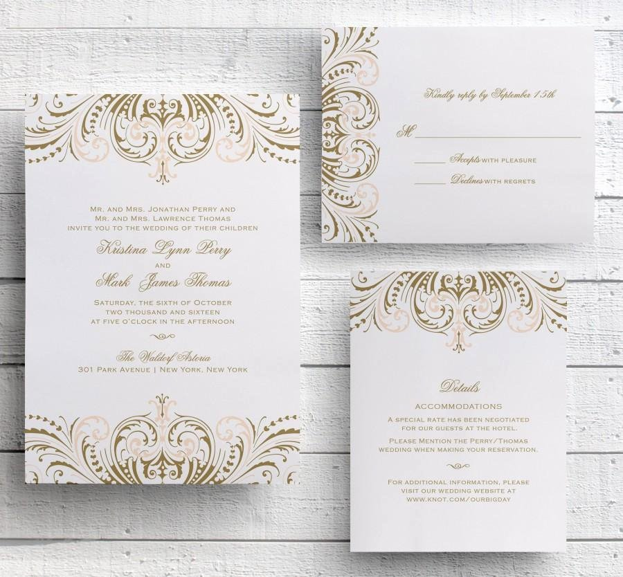 Vintage Wedding Invitation Template Diy Matik for