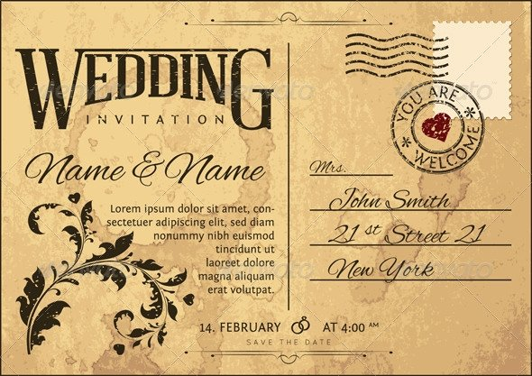 Vintage Wedding Invitation Templates Invitation Template