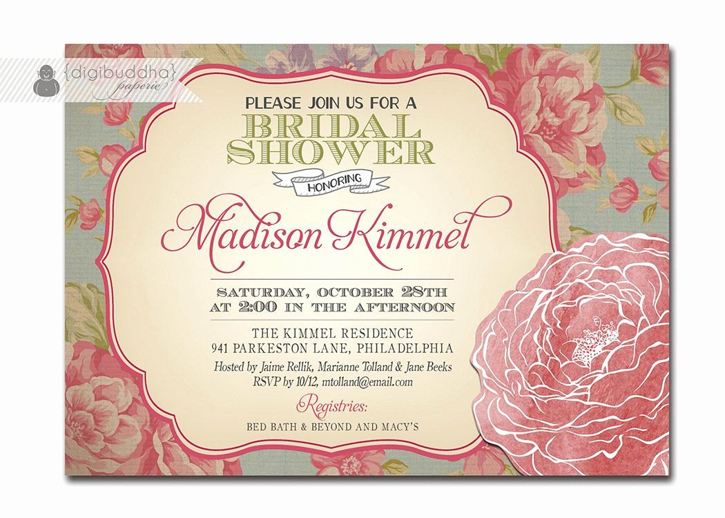 Vintage Wedding Shower Invitations Vintage Bridal Shower
