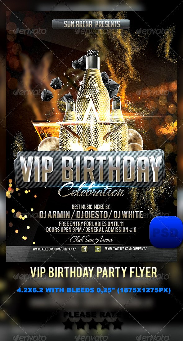 Vip Birthday Party Flyer by Stormclub