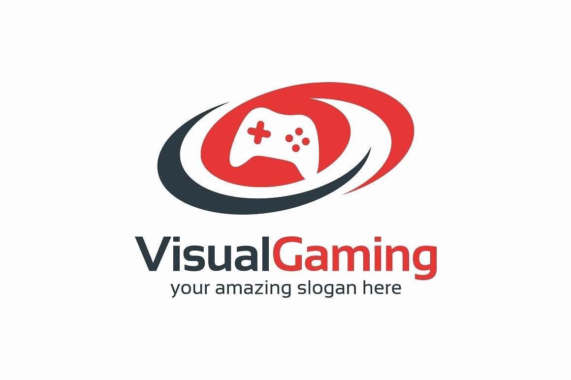 Visual Gaming Logo Logo Templates Creative Market