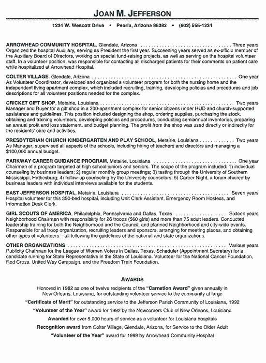 Volunteer Activities Resume Best Resume Collection
