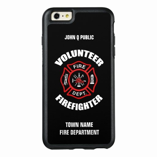 Volunteer Firefighter Name Template Otterbox iPhone 6 6s