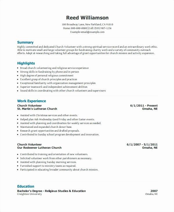 Volunteer Resume Template How to Include Volunteer Work