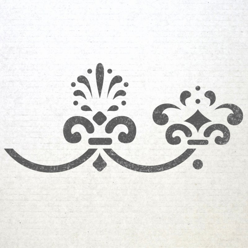 Wall Baroque Border Stencils 003 Pattern Reusable Template