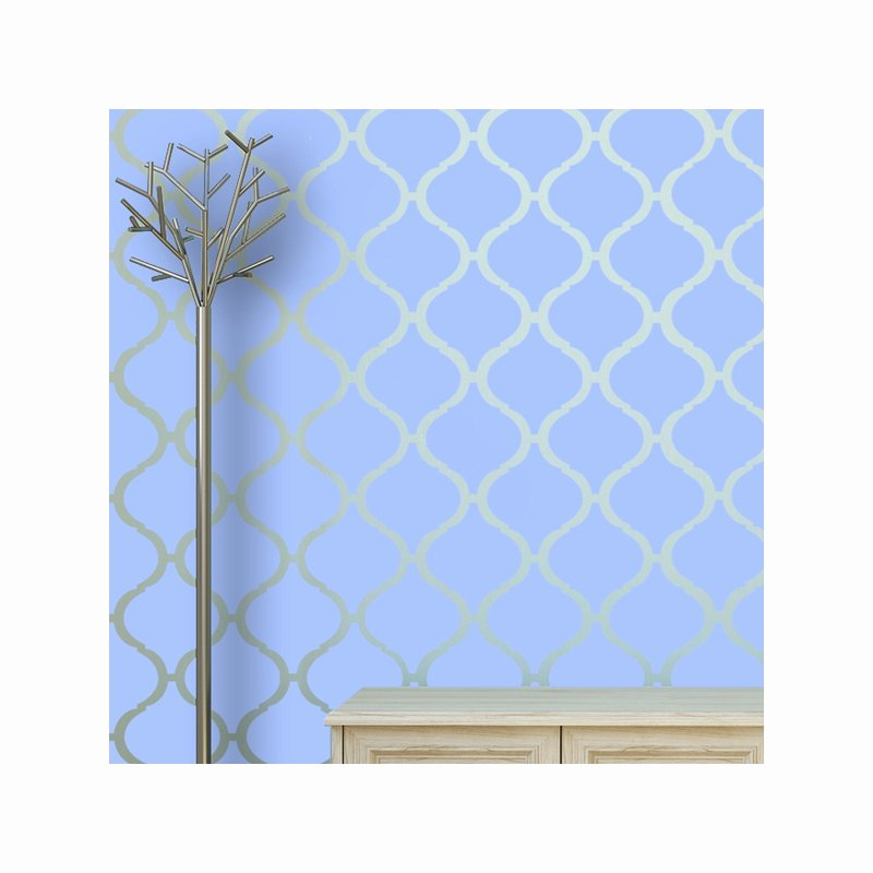 Wall Stencil Template Moroccan Pattern Casablanca for