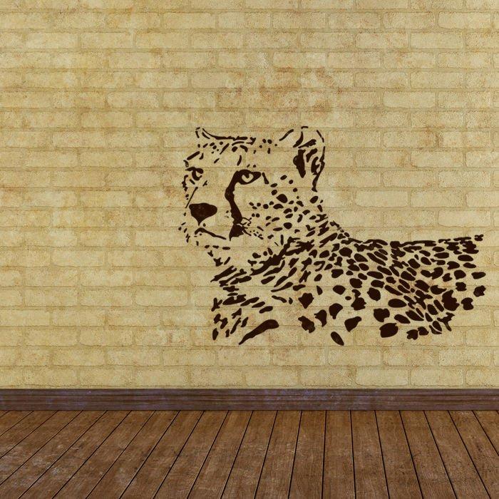 Wall Stencils Leopard Stencil Template for Wall