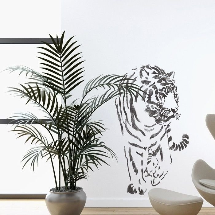 Wall Stencils Tiger Stencil Template for Wall