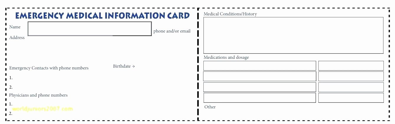 wallet card template