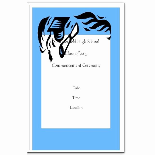 Want to Make Your Own Graduation Program Templates Make